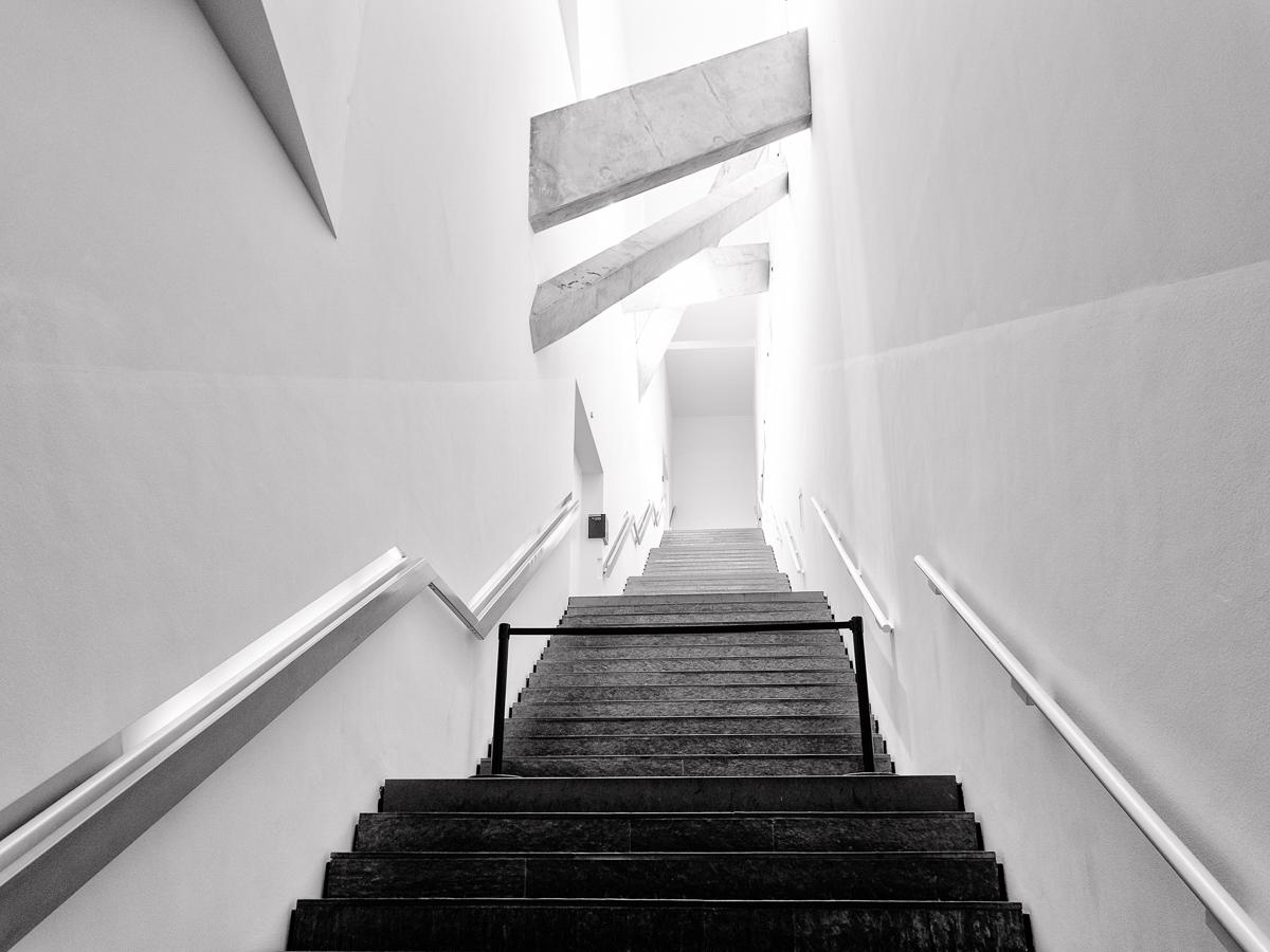 Treppenhaus im Jüdischen Museum Berlin